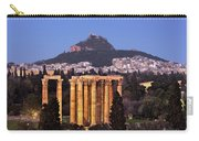 View Of The Temple Of Olympian Zeus And Mount Lycabettus In The  Carry-all Pouch