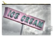Vintage Ice Cream Sign Carry-all Pouch