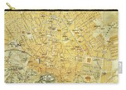 Vintage Map Of Athens Greece - 1894 Carry-all Pouch