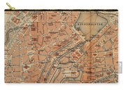 Vintage Map Of Hamburg Germany - 1910 Carry-all Pouch