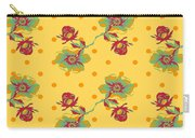 Vintage Wallpaper Seamless Rose Flower Pattern On Circles Polka  Carry-all Pouch