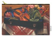 Violin Case And Flowers Carry-all Pouch