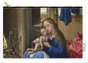 Virgin And Child In An Interior Carry-all Pouch