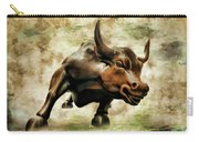 Wall Street Bull Vii Carry-all Pouch