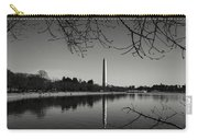 Washington Memorial Framed By Cherry Trees In The Winter Carry-all Pouch