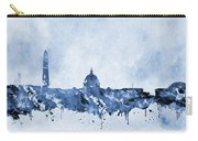 Washington Skyline-blue Carry-all Pouch
