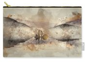 Watercolor Painting Of Beautiful Romantic Image Of Swans On Mist Carry-all Pouch