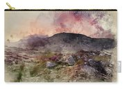 Watercolour Painting Of Stunning Summer Dawn Over Mountain Range Carry-all Pouch