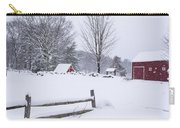Wayside Inn Grist Mill Covered In Snow Storm Carry-all Pouch