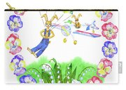 Welcome Spring. Rabbit And Flowers Carry-all Pouch