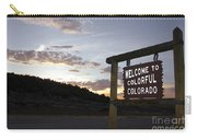 Welcome To Colorful Colorado Carry-all Pouch