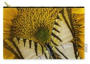 White Butterfly On Sunflower Carry-all Pouch