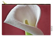 White Calla Carry-all Pouch by Heiko Koehrer-Wagner