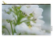 White Flower Close-up Carry-all Pouch