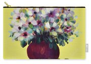 White Flowers Carry-all Pouch