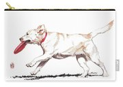 White Frisbee Dog Carry-all Pouch