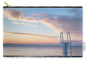 White Ladder Of A Diving Board At The Beach In Cres Carry-all Pouch