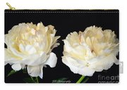 Peonies In Cream Carry-all Pouch