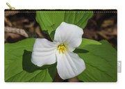 White Trillium 3 Carry-all Pouch