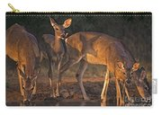 Whitetail Deer At Waterhole Texas Carry-all Pouch by Dave Welling