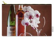 Wine And Orchids Still Life Carry-all Pouch