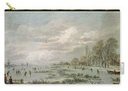 Winter Landscape Carry-all Pouch by Aert van der Neer