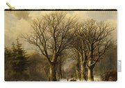 Winter Scene In Reichswald Carry-all Pouch