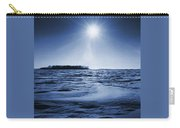 Winter Setting Sun Blue Toned Carry-all Pouch