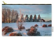 Winter Sunset In Weyburn Carry-all Pouch