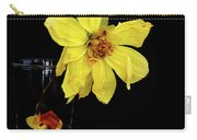 Withered Lifeless Dahlia Flower Carry-all Pouch