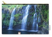 Woman At Waterfall Carry-all Pouch
