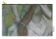 Woman Combing Her Hair Carry-all Pouch by Edgar Degas