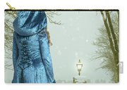 Woman In Snow Scene Carry-all Pouch