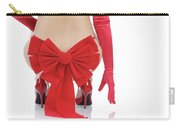 Woman With A Christmas Bow Carry-all Pouch