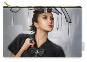 Woman With Chandelier Headdress Carry-all Pouch