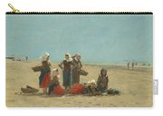 Women On The Beach At Berck Carry-all Pouch