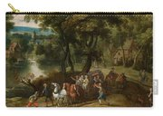 Wooded Landscape With Robbers Carry-all Pouch