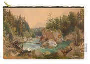 Wooded River Landscape In The Alps Carry-all Pouch