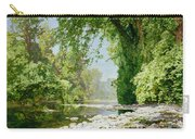 Wooded Riverscape Carry-all Pouch by Leopold Rolhaug