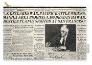 World War II: Headline, 1941 Carry-all Pouch
