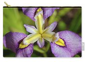 Yellow And Purple Iris Flower Carry-all Pouch