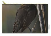 Yellow Headed Blackbird On Cattails Carry-all Pouch