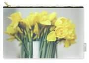 Yellow Narcissuses Bouquet In A Glass Vase Carry-all Pouch
