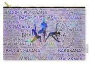 Yoga Asanas / Poses Sanskrit Word Art  Carry-all Pouch