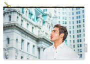 Young American Businessman Looking For Success. Carry-all Pouch