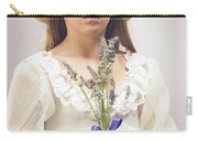 Young Girl With Lavender Carry-all Pouch