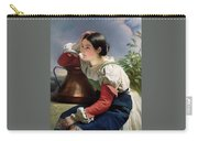Young Italian At The Well Franz Xavier Winterhalter Carry-all Pouch