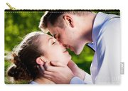 Young Romantic Couple Kissing With Love In Summer Park Carry-all Pouch