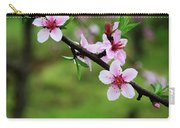Blossoming Peach Flowers  Closeup Carry-all Pouch