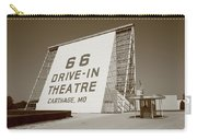 Route 66 - Drive-in Theatre Carry-all Pouch by Frank Romeo